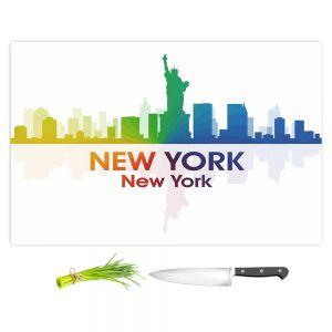 Artistic Kitchen Bar Cutting Boards | Angelina Vick - City I New York New York