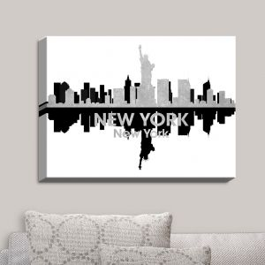 Decorative Canvas Wall Art   Angelina Vick - City IV New York New York   City Skyline Mirror Image