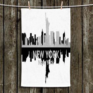 Unique Hanging Tea Towels | Angelina Vick - City IV New York New York | City Skyline Mirror Image