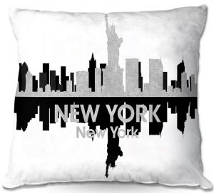 Unique Throw Pillows from DiaNoche Designs by Angelina Vick - City IV New York New York | 16x16