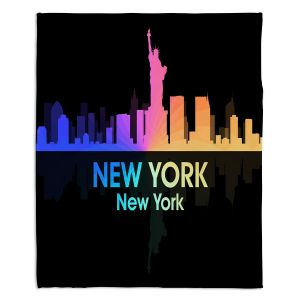 Decorative Fleece Throw Blankets | Angelina Vick - City V New York New York