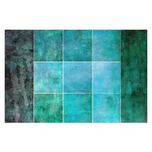 Decorative Floor Covering Mats | Angelina Vick - Ocean | Abstract shapes rectangle