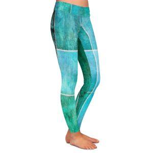 Casual Comfortable Leggings | Angelina Vick - Ocean | Abstract shapes rectangle