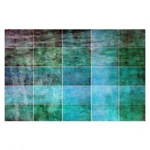 Decorative Floor Covering Mats   Angelina Vick - Ocean Shades   Abstract shapes rectangle