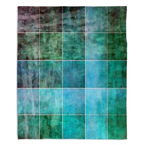 Artistic Sherpa Pile Blankets | Angelina Vick - Ocean Shades | Abstract shapes rectangle