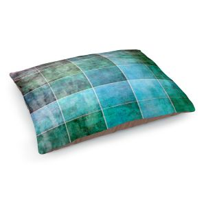 Decorative Dog Pet Beds | Angelina Vick - Ocean Shades | Abstract shapes rectangle