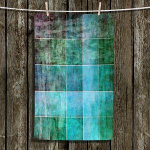 Unique Bathroom Towels | Angelina Vick - Ocean Shades | Abstract shapes rectangle