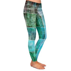 Casual Comfortable Leggings | Angelina Vick - Ocean Shades | Abstract shapes rectangle