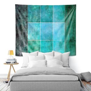 Artistic Wall Tapestry | Angelina Vick - Ocean | Abstract shapes rectangle