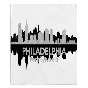 Decorative Fleece Throw Blankets | Angelina Vick - City IV Philadelphia Pennsylvania