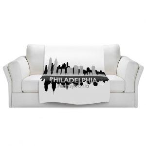 Artistic Sherpa Pile Blankets | Angelina Vick - City IV Philadelphia Pennsylvania