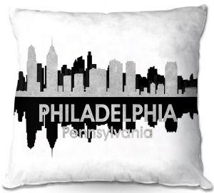Decorative Outdoor Patio Pillow Cushion | Angelina Vick - City IV Philadelphia Pennsylvania
