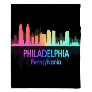 Decorative Fleece Throw Blankets | Angelina Vick - City V Philadelphia Pennsylvania