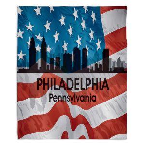 Decorative Fleece Throw Blankets | Angelina Vick - City VI Philadelphia Pennnsylvania