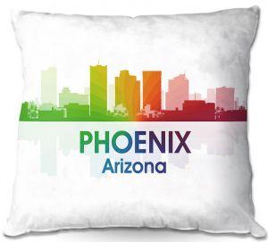 Decorative Outdoor Patio Pillow Cushion   Angelina Vick - City I Phoenix Arizona