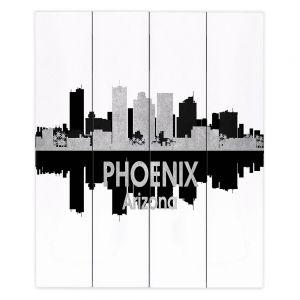 Decorative Wood Plank Wall Art  Angelina Vick - City IV Phoenix Arizona