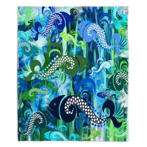 Decorative Fleece Throw Blankets | Angelina Vick - Plenty of Fish in the Sea I