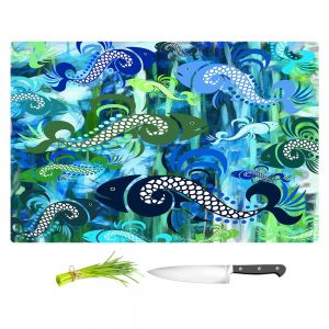 Artistic Kitchen Bar Cutting Boards | Angelina Vick - Plenty of Fish in the Sea I