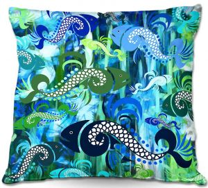 Throw Pillows Decorative Artistic | Angelina Vick's Plenty of Fish in the Sea I