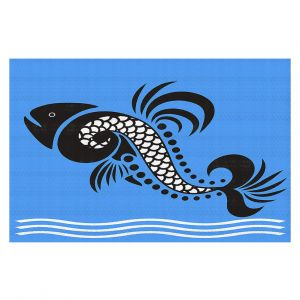Decorative Floor Covering Mats | Angelina Vick - Plenty of Fish in the Sea 4 | Ocean water nature graphic