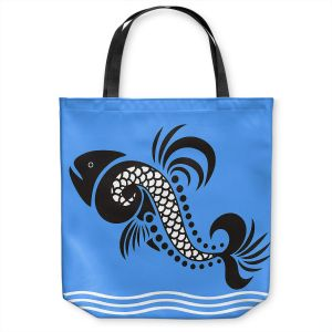 Unique Shoulder Bag Tote Bags | Angelina Vick - Plenty of Fish in the Sea 4 | Ocean water nature graphic