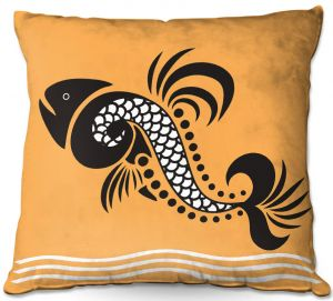 Throw Pillows Decorative Artistic | Angelina Vick - Plenty of Fish in the Sea 5 | Ocean water nature graphic