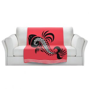 Artistic Sherpa Pile Blankets   Angelina Vick - Plenty of Fish in the Sea 6   Ocean water nature graphic