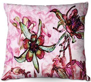 Throw Pillows Decorative Artistic | Angelina Vick - Poetry Motion Pink | flower abstract digital