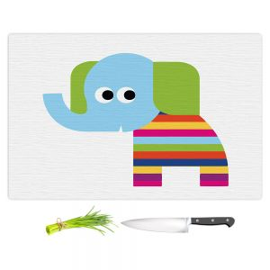 Artistic Kitchen Bar Cutting Boards | Angelina Vick - Rainbow Elephant | Children colorful animal nature