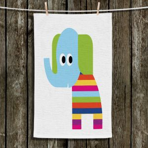 Unique Bathroom Towels | Angelina Vick - Rainbow Elephant | Children colorful animal nature