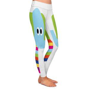Casual Comfortable Leggings | Angelina Vick - Rainbow Elephant | Children colorful animal nature