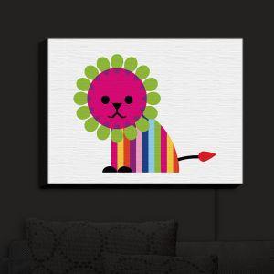 Nightlight Sconce Canvas Light | Angelina Vick - Rainbow Lion