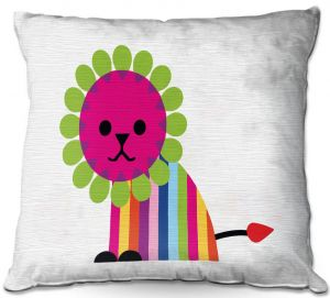 Throw Pillows Decorative Artistic | Angelina Vick - Rainbow Lion | Children colorful animal nature