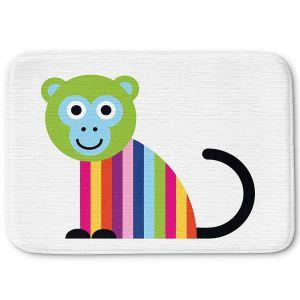 Decorative Bathroom Mats | Angelina Vick - Rainbow Monkey | Children colorful animal nature