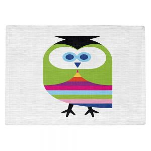 Countertop Place Mats   Angelina Vick - Rainbow Owl   Children colorful animal nature