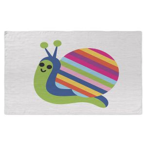 Artistic Pashmina Scarf | Angelina Vick - Rainbow Snail | Children, colorful, animal, nature