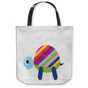 Unique Shoulder Bag Tote Bags   Angelina Vick - Rainbow Turtle   Children colorful animal nature