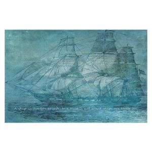 Decorative Floor Covering Mats | Angelina Vick - Sailboat Quote 1 | Schooner ship ocean pirate captain sea