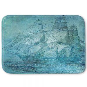 Decorative Bathroom Mats | Angelina Vick - Sailboat Quote 1 | Schooner ship ocean pirate captain sea