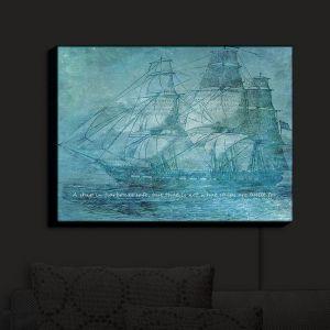 Nightlight Sconce Canvas Light | Angelina Vick - Sailboat Quote 1