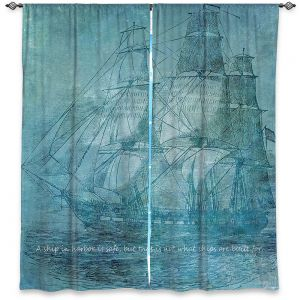 Decorative Window Treatments | Angelina Vick - Sailboat Quote 1 | Schooner ship ocean pirate captain sea