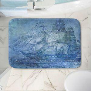 Decorative Bathroom Mats | Angelina Vick - Sailboat Quote 2 | Schooner ship ocean pirate captain sea