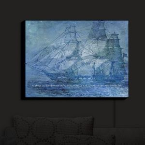 Nightlight Sconce Canvas Light | Angelina Vick - Sailboat Quote 2