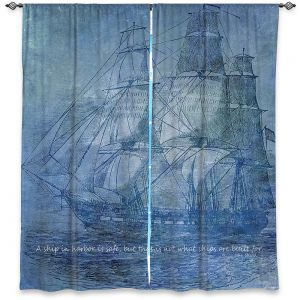 Decorative Window Treatments | Angelina Vick - Sailboat Quote 2 | Schooner ship ocean pirate captain sea