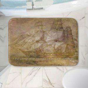 Decorative Bathroom Mats | Angelina Vick - Sailboat Quote 3 | Schooner ship ocean pirate captain sea