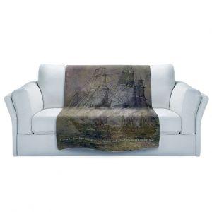 Artistic Sherpa Pile Blankets | Angelina Vick - Sailboat Quote 3 | Schooner ship ocean pirate captain sea