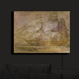 Nightlight Sconce Canvas Light | Angelina Vick - Sailboat Quote 3