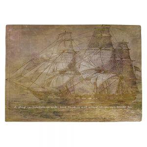 Countertop Place Mats | Angelina Vick - Sailboat Quote 3 | Schooner ship ocean pirate captain sea