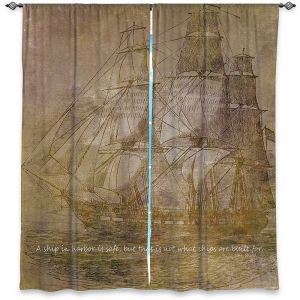 Decorative Window Treatments | Angelina Vick - Sailboat Quote 3 | Schooner ship ocean pirate captain sea