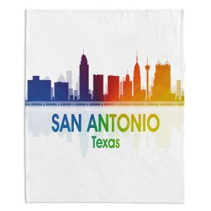 Decorative Fleece Throw Blankets | Angelina Vick - City I San Antonio Texas